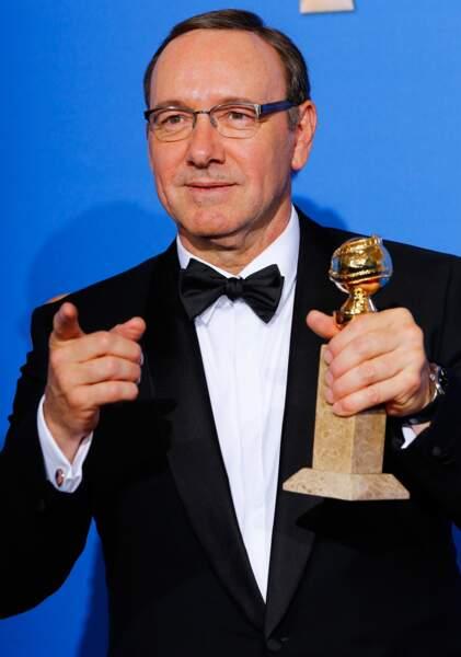 Kevin Spacey, meilleur acteur de série dramatique dans House of Cards