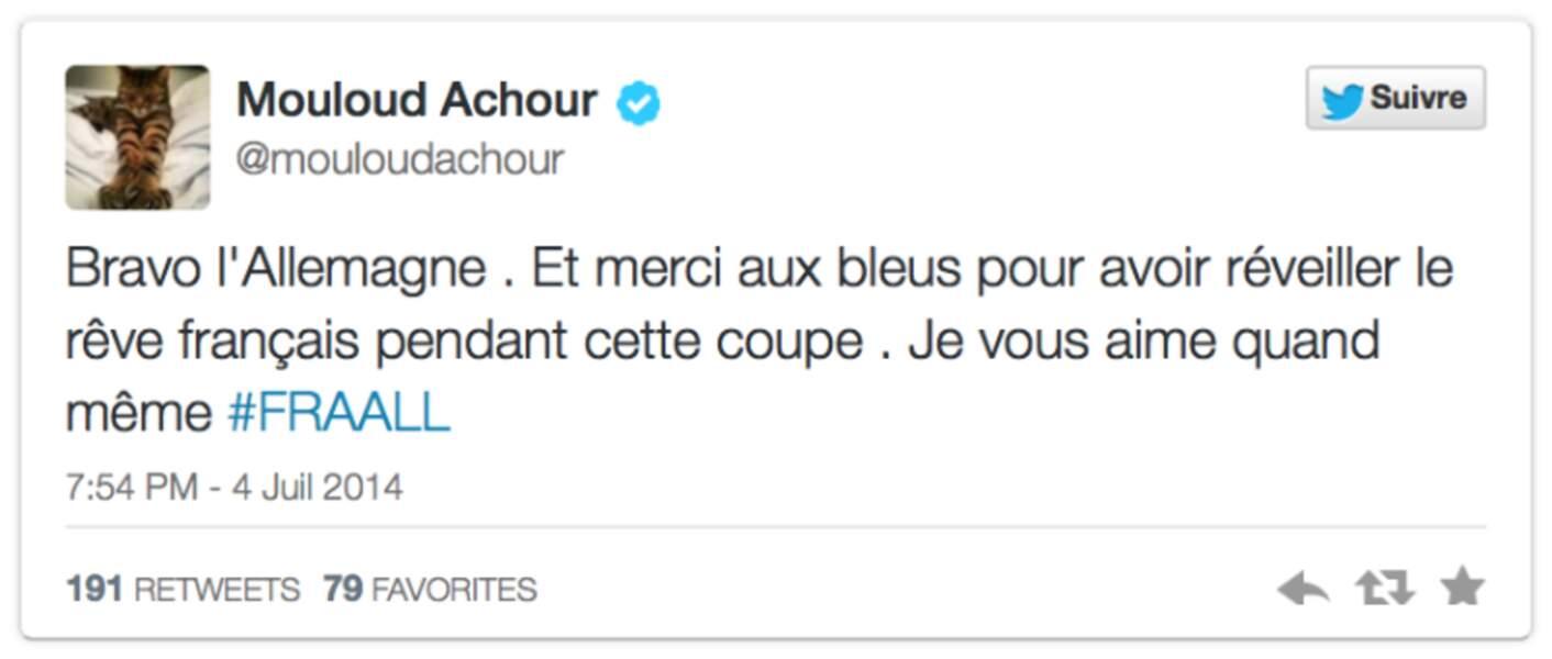 Mouloud Achour, très fair-play aussi