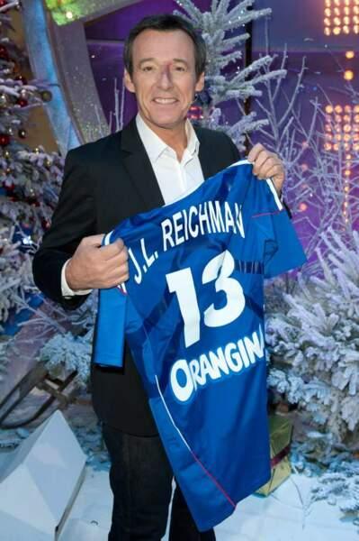 Jean-Luc Reichmann et son maillot de l'équipe de France de Handball