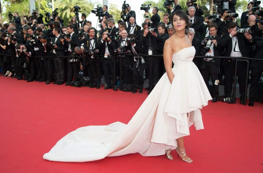 L'année dernière à Cannes, elle a de nouveau fait sensation sur le tapis rouge