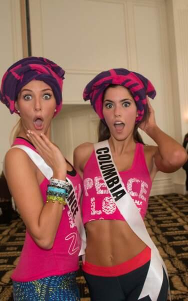 Concours de grimaces avec Miss Colombie 2014