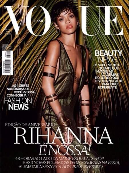 En mai 2014, en Une de Vogue Brésil.