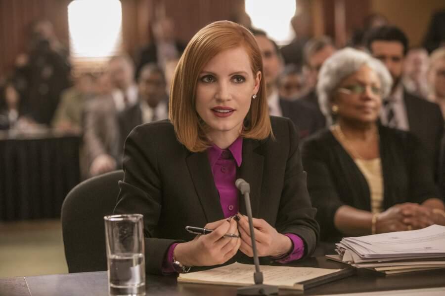 Miss Sloane (2017) : elle est impeccable dans le rôle d'une lobbyiste sans pitié dans ce film de John Madden