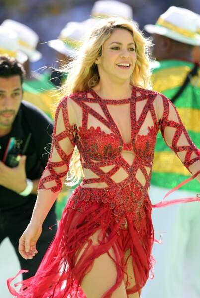 Shakira, très sexy, a fait le show