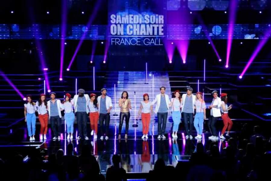 Tableau avec tous les artistes de Samedi soir on chante France Gall
