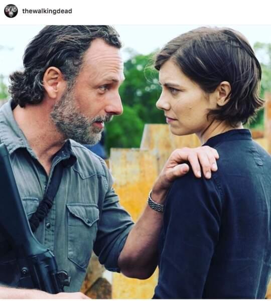 The Walking Dead, saison 8 est en plein tournage : mais que raconte Rick à Maggie ?