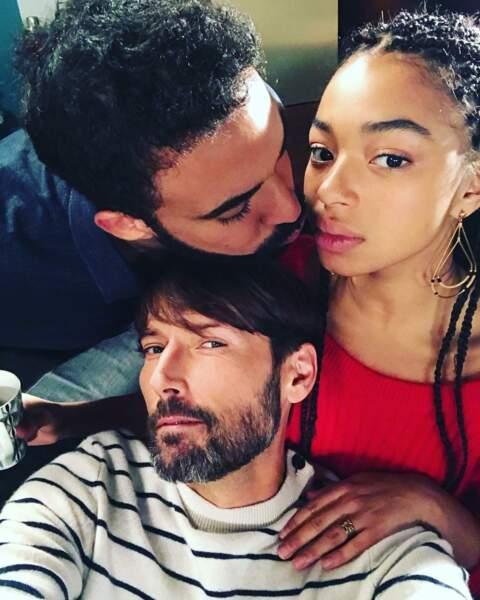 Gabriel et Thomas avec leur fille