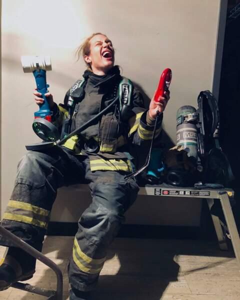 Entre deux feux, dans Grey's Anatomy : Station 19, Danielle Savre en profite pour décompresser