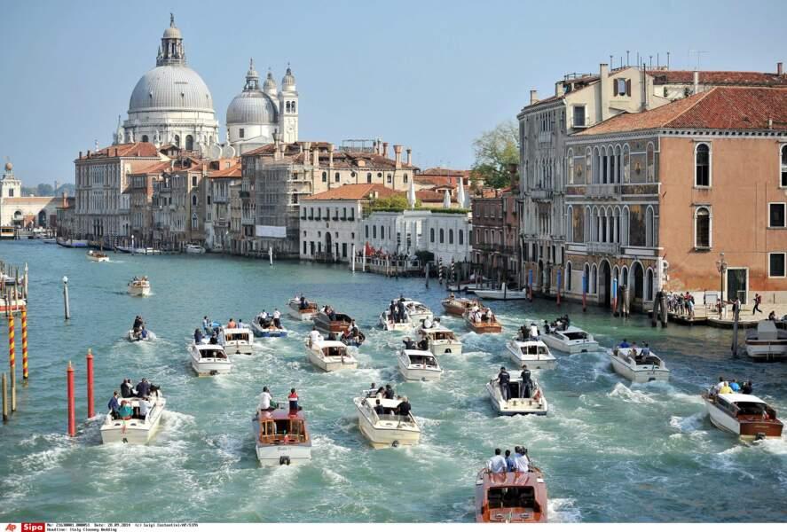 Faut dire qu'un mariage à Venise, ça en jette !