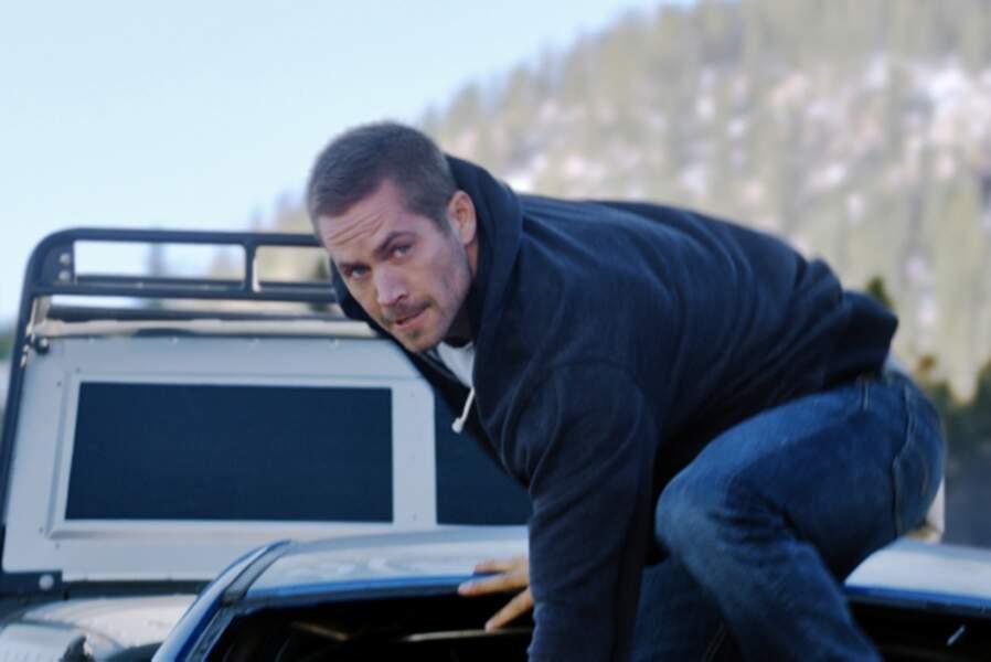 Fast & Furious 7 (2015) : l'une des ultimes séquences d'action de l'acteur, dans les montagnes du Caucase