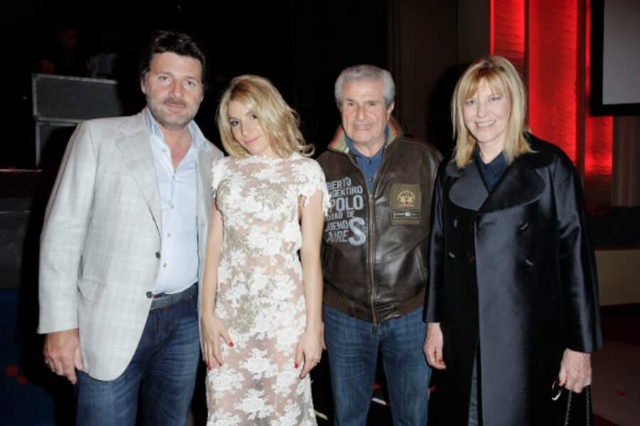 Philippe Lellouche, Lola Marrois, Claude Lelouch et Chantal Ladesou