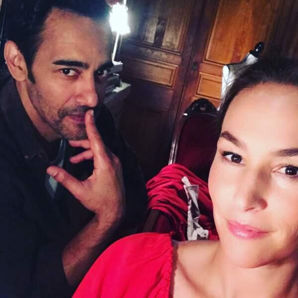Vanessa Demouy et Olivier Bénard tournent un épisode de Joséphine, ange gardien