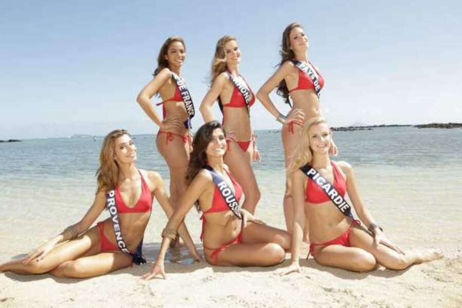 Miss Île-de-France, Rhône-Alpes, Pays de Loire, Provence, Roussillon, Picardie
