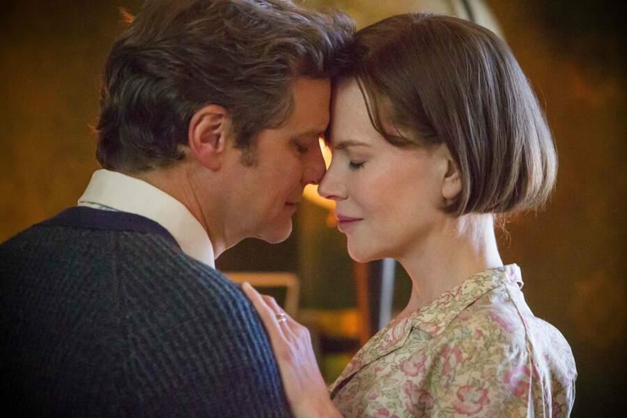 Face à Colin Firth dans Les voies du destin (2013)