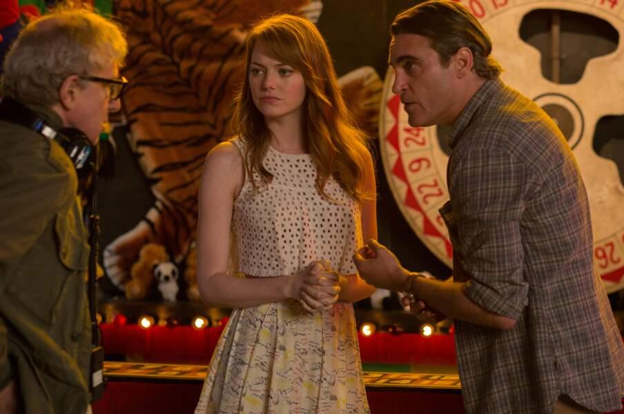 La même Emma Stone, de retour pour le sombre L'Homme irrationnel, aux côtés de Joaquin Phoenix (2015)