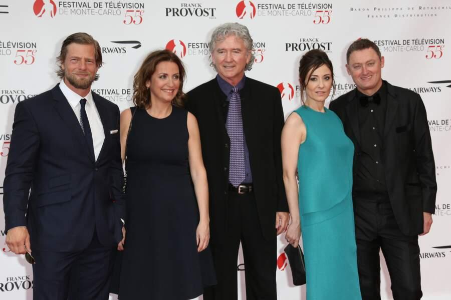 Le jury Séries TV : Henning Baum, Camilla Hammerich, Patrick Duffy (président), Nathalie Poza et Jeff Pope