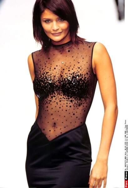 Helena Christensen, collection automne-hiver 95-96 pour Versace