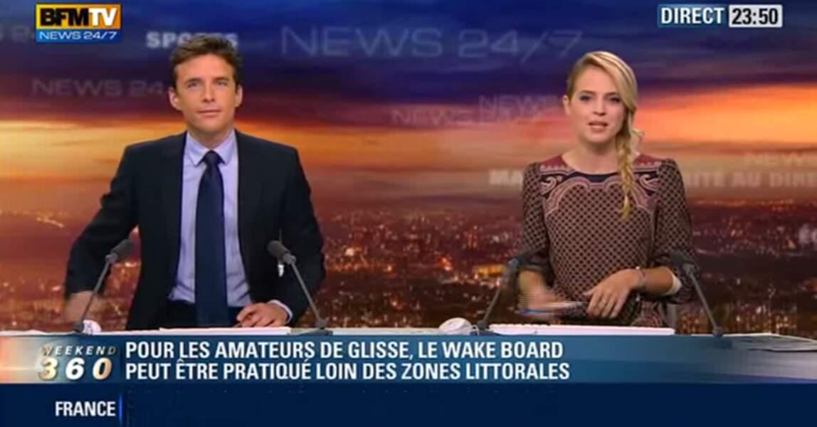 François-Xavier Ménage a présenté ses premiers journaux sur BFM TV.