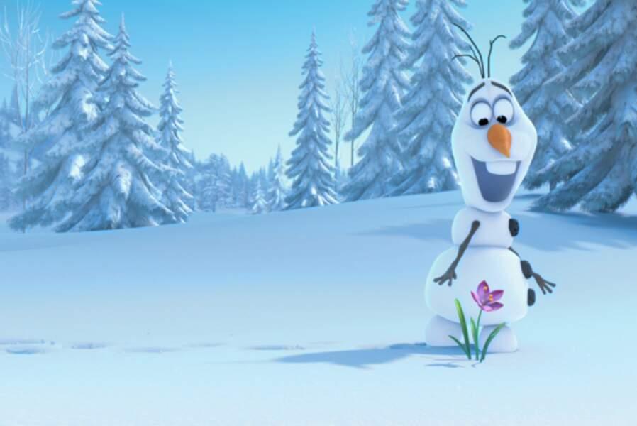 Nouvelle voix dans La Reine des neiges (2013) : Olaf, délirant bonhomme de neige qui rêve de soleil