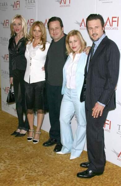Alexis Arquette, Rosanna Arquette, Richmond Arquette, Patricia Arquette et David Arquette.