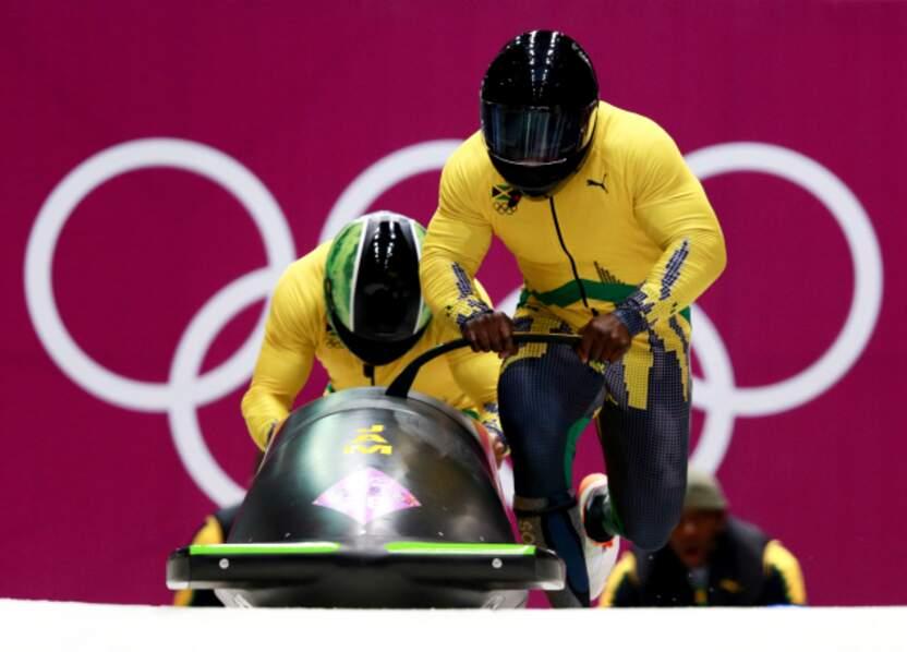 L'équipe de Jamaïque (bobsleigh à 2)