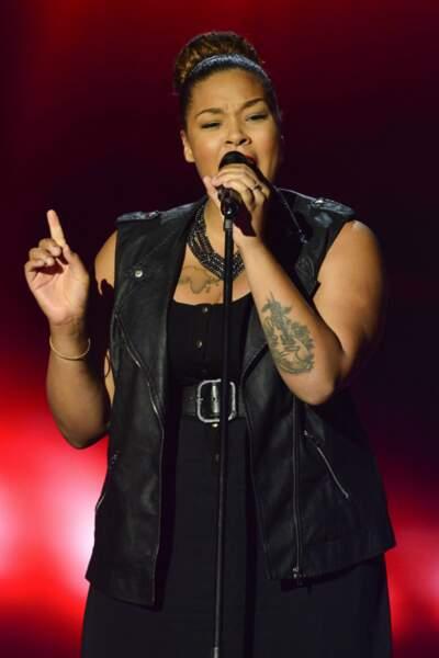 Maliya Jackson a elle aussi fait danser le coach, sur We Found Love de Rihanna