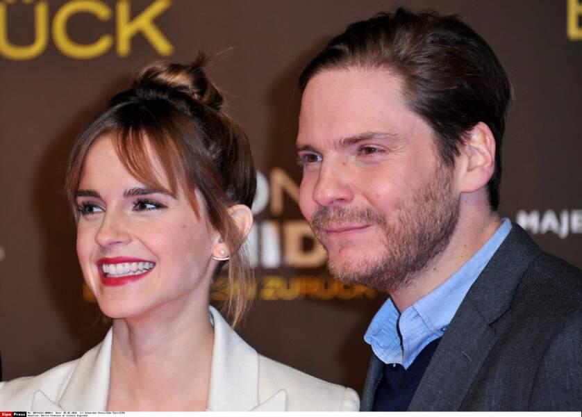En février dernier à Berlin, Emma Watson et Daniel Brühl lors de la promotion du film