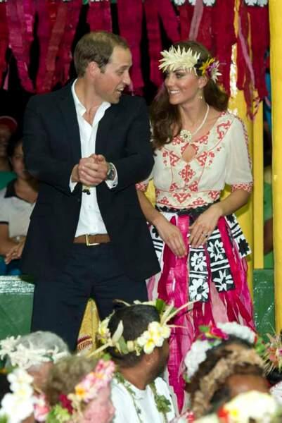 Kate et William radieux en voyage officiel
