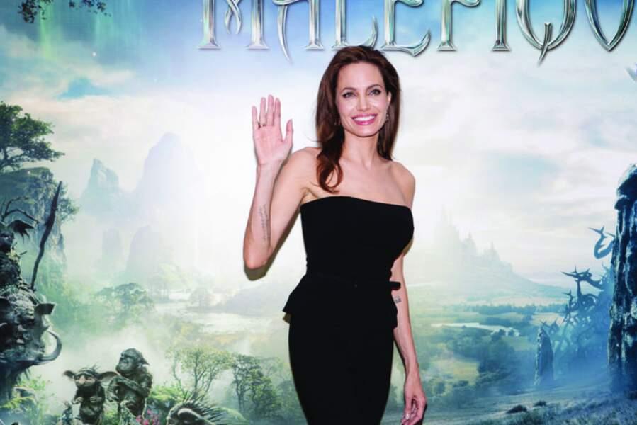 Angelina Jolie a présenté à Paris le film Maléfique