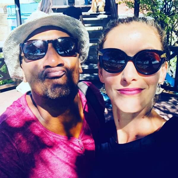 A la Réunion, Edouard Montoute et Elodie Varlet profitent du soleil sur le tournage de Cut