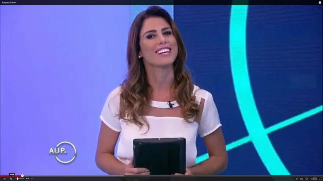 Roberta Setimi (Fox Sports Brésil) défend fièrement les couleurs de son pays.