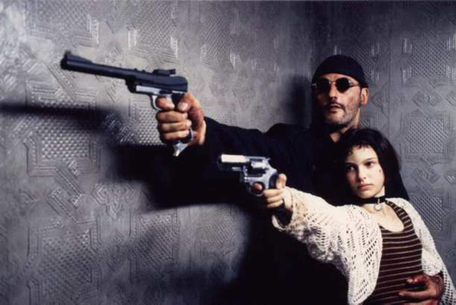 """Voici Natalie Portman dans """"Léon"""" de Luc Besson (1994) avec Jean Reno. C'est son premier long-métrage"""