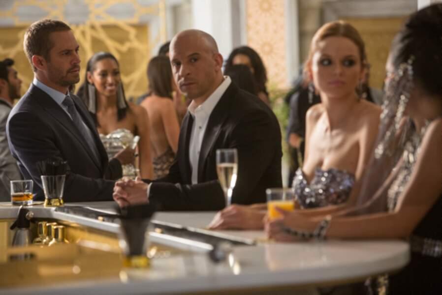 Fast & Furious 7 (2015) : Brian (Paul Walker) et Dom (Vin Diesel), un duo réuni pour la dernière fois