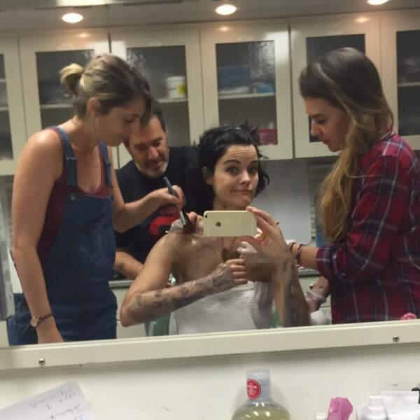 Pour Blindspot, Jaimie Alexander passe pas mal d'heures au maquillage