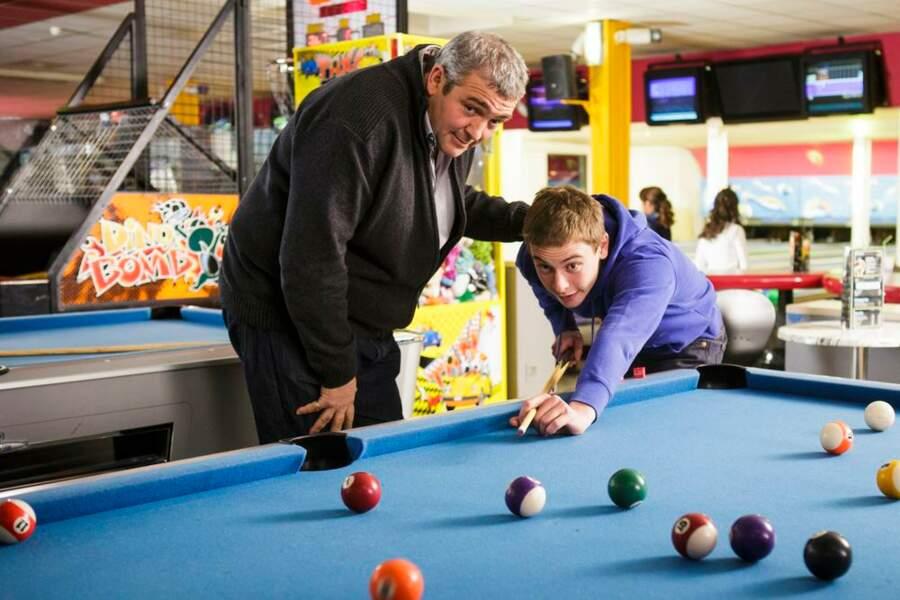 Jean-Paul (Laurent Gamelon) et son fils Martin (Ulysse Pilon)
