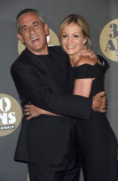 Thierry Ardisson et sa compagne Audrey Crespo-Mara, très complices