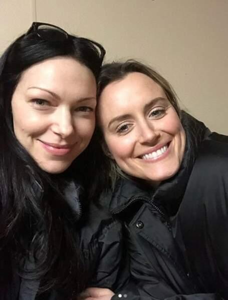 Ultimes moments de complicité sur le tournage pour Laura Prepon et Taylor Schilling