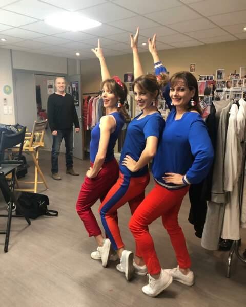 Retour à la couleur avec les filles de Plus belle la vie, très patriotiques !