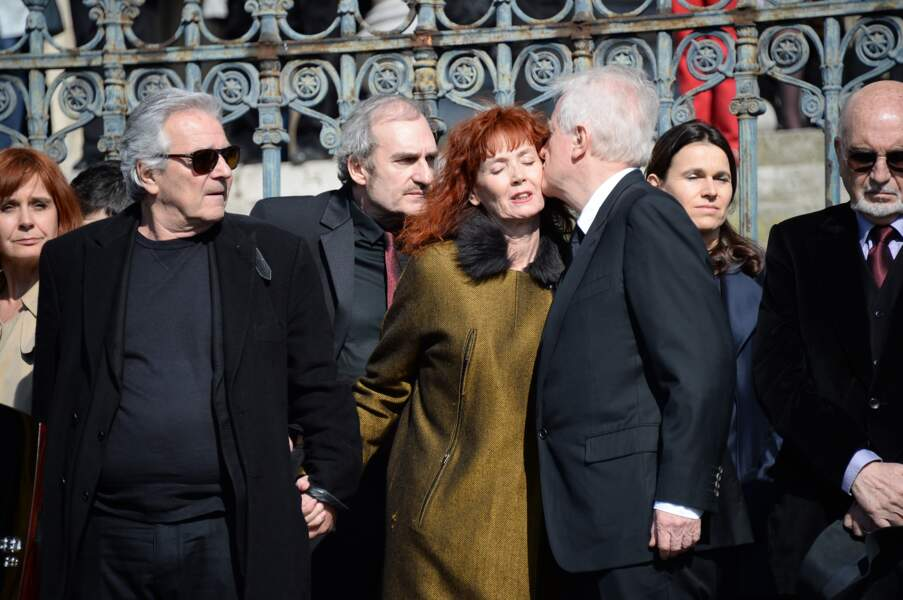 Pierre Arditi et André Dussollier ont soutenu Sabine Azéma, l'épouse du cinéaste