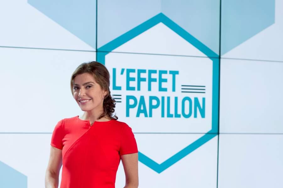 Sur Canal+, elle a notamment présenté +Clair. Aujourd'hui, elle anime l'Effet Papillon.