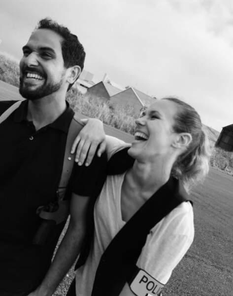 Lori et son partenaire Samy Gharbi, dans le feuilleton de TF1