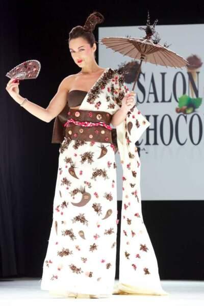 Natasha St-Pier au Salon du chocolat