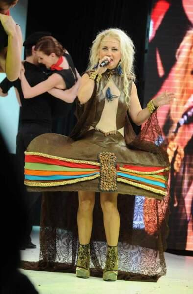 Christelle Chollet n'a pas hésité à pousser la chansonnette !