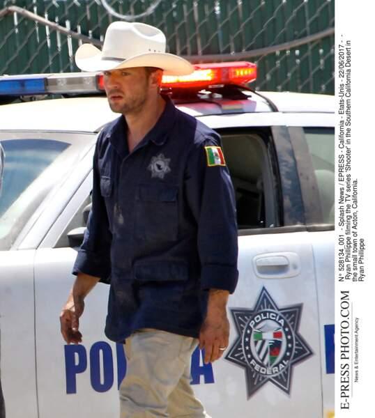 Look de cowboy pour Ryan Phillippe, star de la série Shooter
