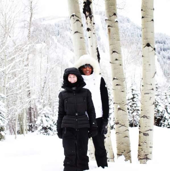 Ellen Pompeo dans le froid et la neige