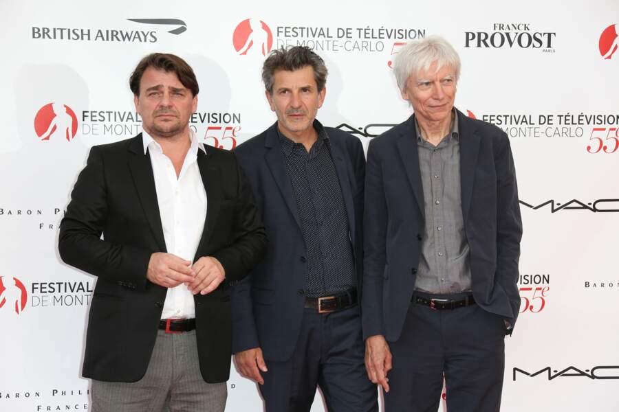 Thierry Godard, Fred Bianconi et Philippe Duclos, de la série Engrenages