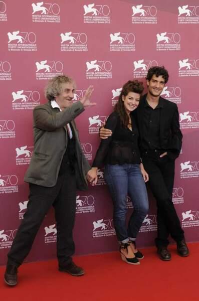 Philippe Garrel et ses deux enfants Esther et Louis