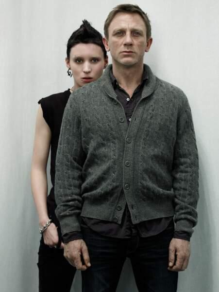 Un style négligé pour jouer le reporter d'investigation Mikael Blomkvist au côté de Rooney Mara dans Millenium.