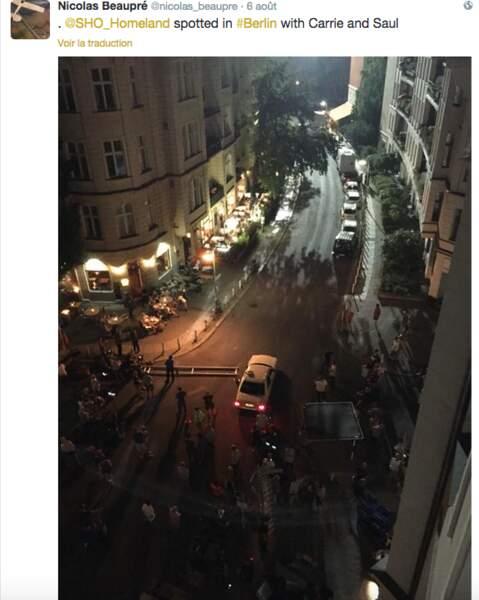 Homeland, actuellement en tournage dans les rues de Berlin