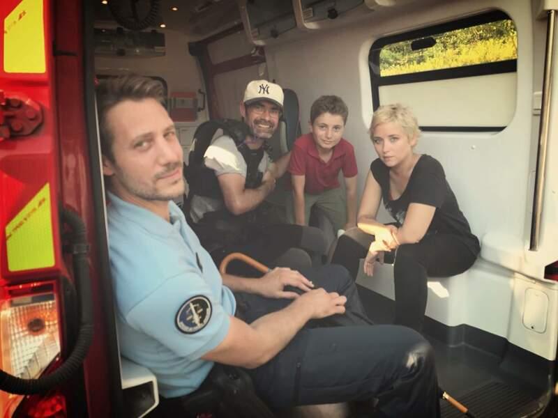 Petit tour en ambulance pour Joffrey Platel dans Meurtres en Lorraine